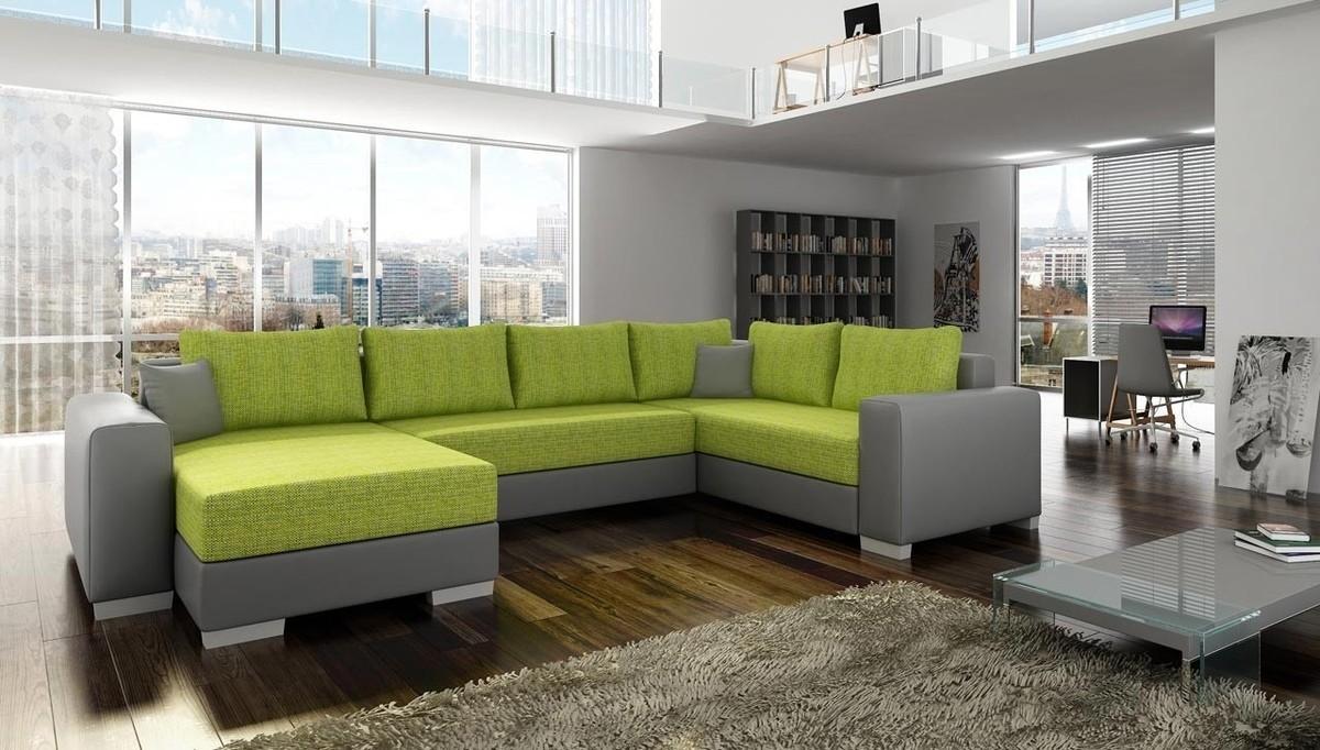 U veida dīvāni