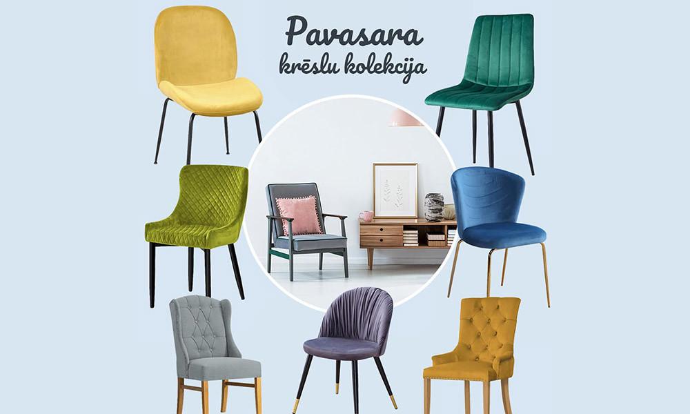 Krēsli katrai gaumei: pavasara jaunumi