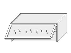 Augšējais vitrīnas skapītis Vanilla W4BS/90 ALU