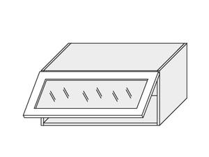 Augšējais vitrīnas skapītis Beige mat W4BS/80 WKF