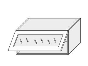 Augšējais vitrīnas skapītis Beige mat W4BS/90 WKF