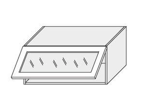 Augšējais vitrīnas skapītis Vanilla mat W4BS/90 WKF