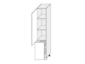 Virtuves skapītis Graphite 2D14K/40+cargo
