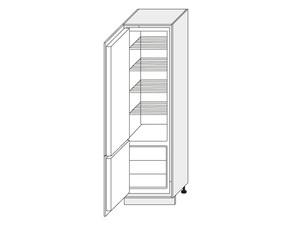 Skapis iebūvējamajam ledusskapim Black Pine D14/DL/60/207