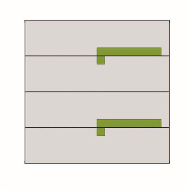 Korpuss: Grafīts pelēks. Fasāde: Balts / Zaļš