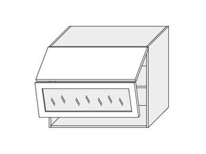 Augšējais vitrīnas skapītis Vanilla mat W8BS/80 AVENTOS WKF