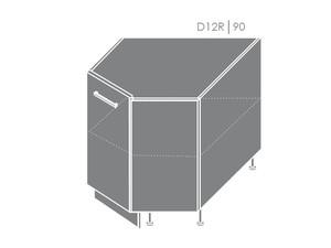 Apakšējais stūra skapītis Heban D12R/90