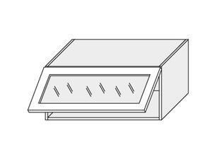 Augšējais vitrīnas skapītis Grey Stone W4BS/80 WKF