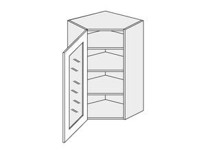 Augšējais stūra skapītis Grey Stone W4S/10/60