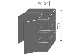 Augšējais stūra skapītis Heban W12/60