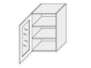 Augšējais vitrīnas skapītis Tivoli W2S/50