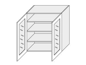 Augšējais vitrīnas skapītis Tivoli W4S/90
