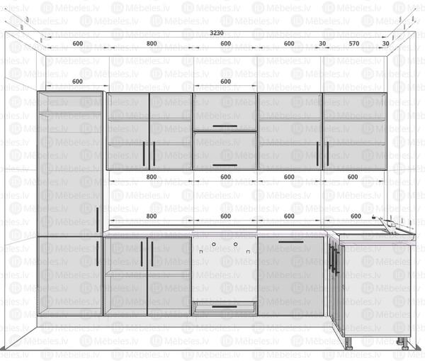 Virtuves komplekts Brerra ICA 149 ROSA/LP 151P