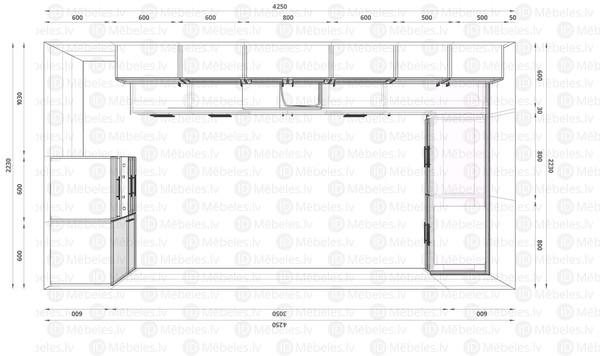 Virtuves komplekts Tivoli 365/160