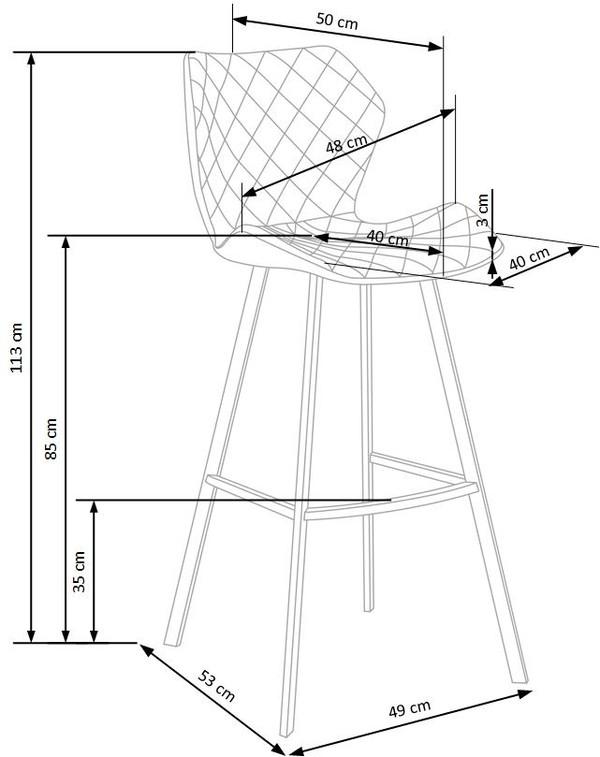Bāra krēsls ID-16815