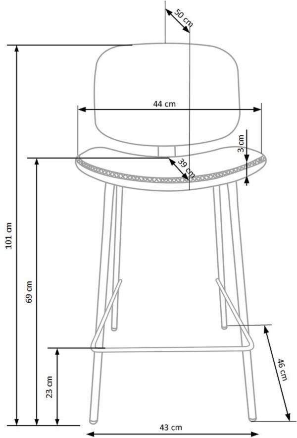Bāra krēsls H-84