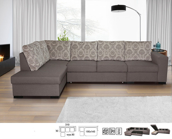 Stūra dīvāns Lisbona LX2R1