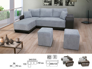 Stūra dīvāns Flopp L/P