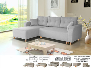 Stūra dīvāns Scandic