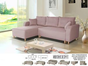 Stūra dīvāns Scandic I L/P