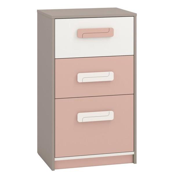 Korpuss: Pelēks. Fasāde: Balts / Gaiši rozā