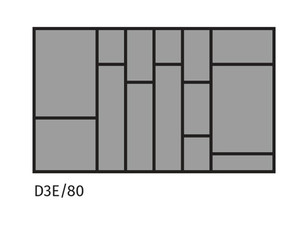 Galda piederumu turētājs ST D3E/80