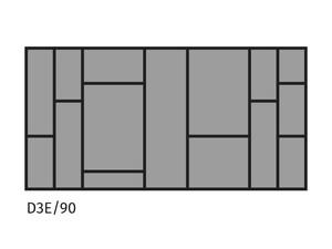 Galda piederumu turētājs ST D3E/90