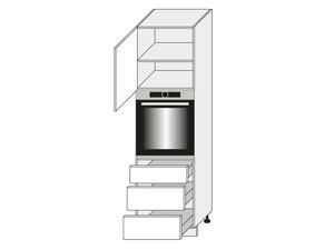 Virtuves skapis Graphite D14/RU/3M