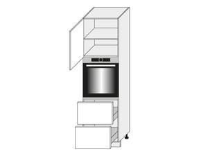 Virtuves skapis Graphite D14/RU/2M 356