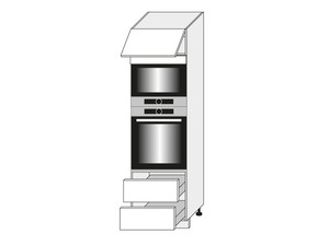 Skapis cepeškrāsnij un mikroviļņu krāsnij Vanilla D14/RU/2M 284