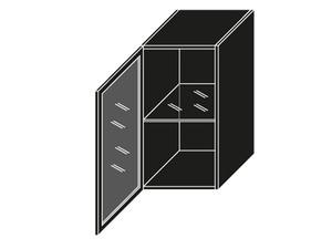 Augšējais vitrīnas skapītis W2S/40 BLACK ALU
