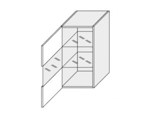Augšējais vitrīnas skapītis Silver Duo WESZ40/WE1S40