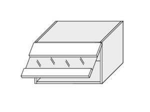 Augšējais vitrīnas skapītis Silver Duo WES/60/LAM