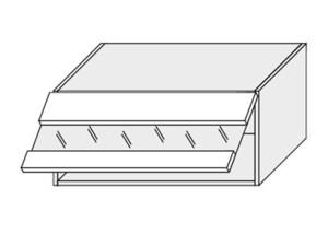 Augšējais vitrīnas skapītis Silver Duo WES/80/LAM