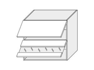 Augšējais vitrīnas skapītis Silver Duo WES/60