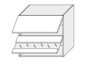 Augšējais vitrīnas skapītis Silver Duo WES/80