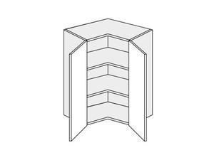 Augšējais stūra skapītis Silver Duo WER/65/65