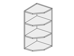 Augšējais stūra skapītis Silver Duo WEK/30