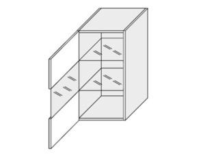 Augšējais vitrīnas skapītis Essen trend WESZ40/WE1S40