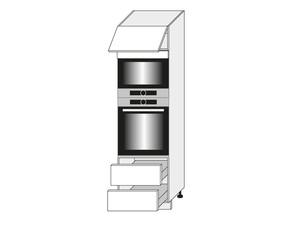Skapis cepeškrāsnij un mikroviļņu krāsnij Fino biale D14/RU/2M 284