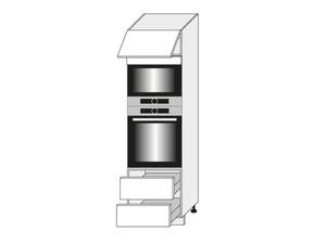 Skapis cepeškrāsnij un mikroviļņu krāsnij Fino biale D14/RU/2E 284