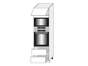 Skapis cepeškrāsnij un mikroviļņu krāsnij White EM D14/RU/2E 284