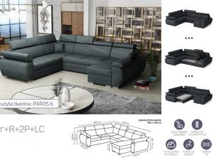 Stūra dīvāns izvelkams Aston 2r+R+2p+LC