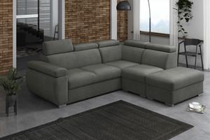 Stūra dīvāns izvelkams Aston 2r+R+1p(65)+PUFA p