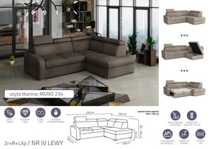 Stūra dīvāns izvelkams Dave 2r+R+LXp