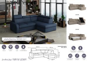 Stūra dīvāns izvelkams Dave LXp+R+2r