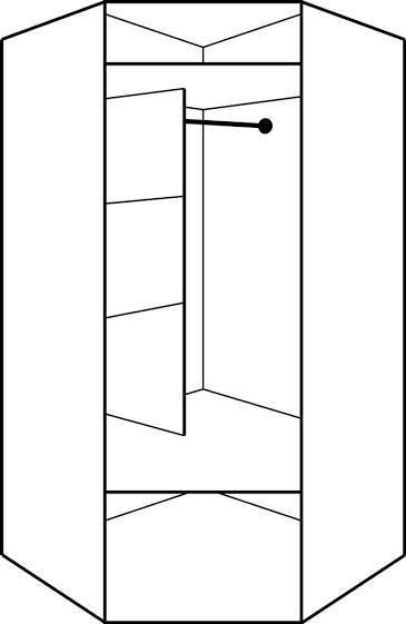 Stūra skapis ar spoguli ID-2795