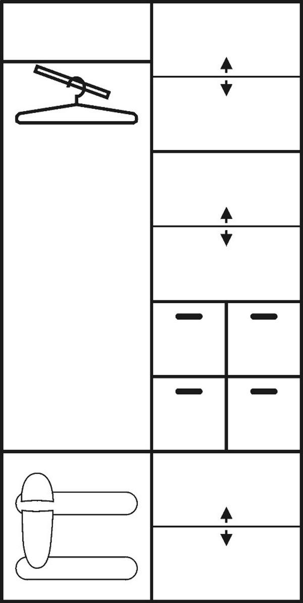 Skapis bez spoguļa ID-2809