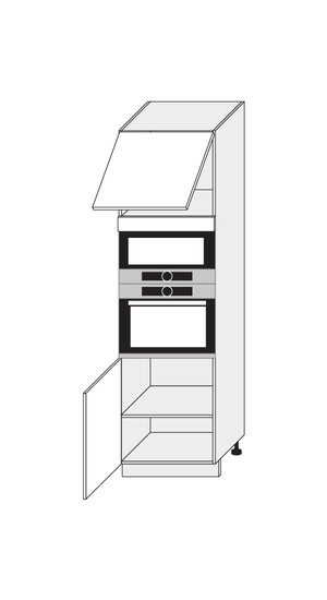 Virtuves skapītis Black D14/RU/60/207