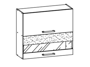 Augšējais vitrīnas skapītis MODENA MD9/G80W tafla